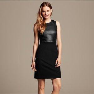 Sloan fit faux leather sheath dress never worn